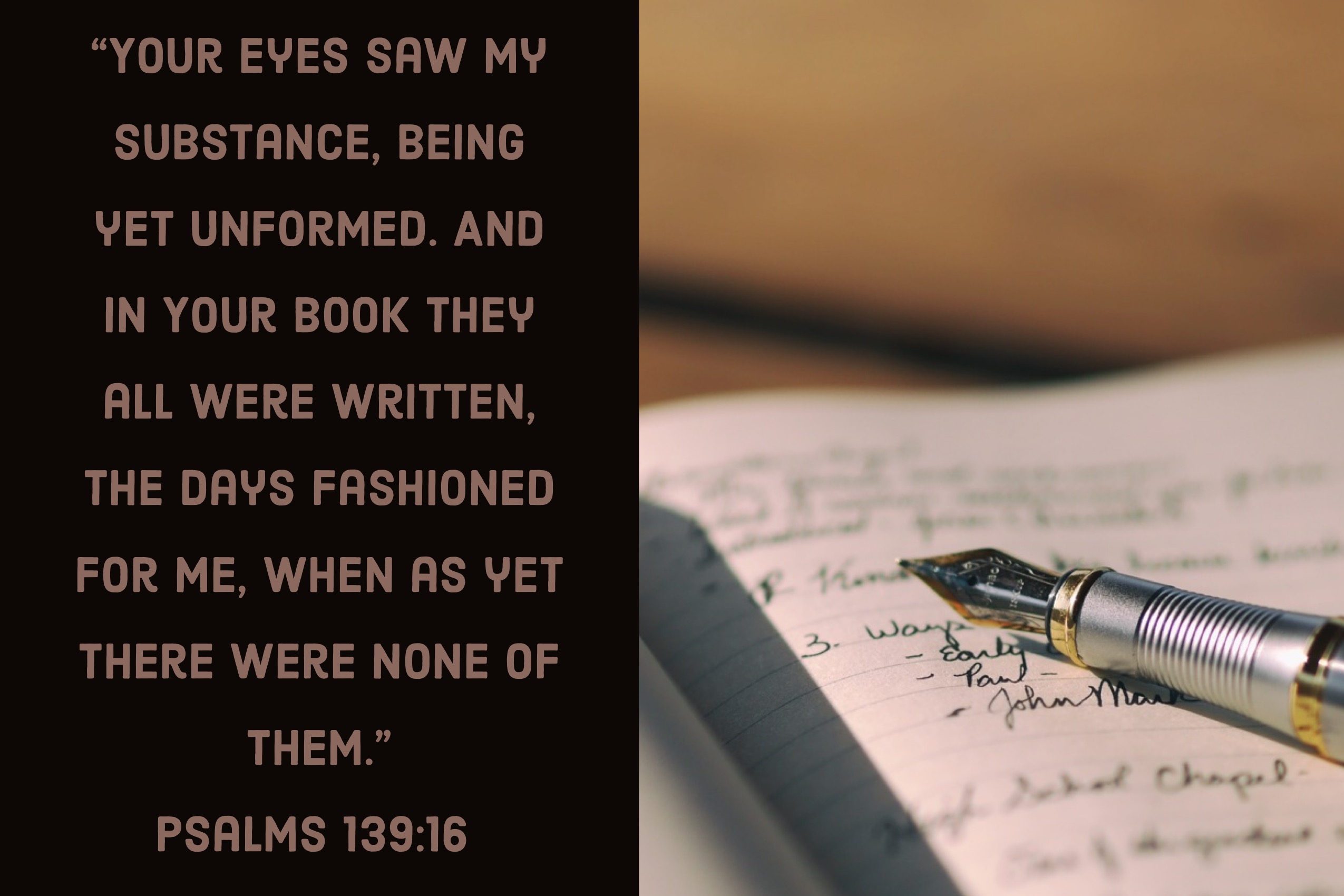 Journal with Psalm 139