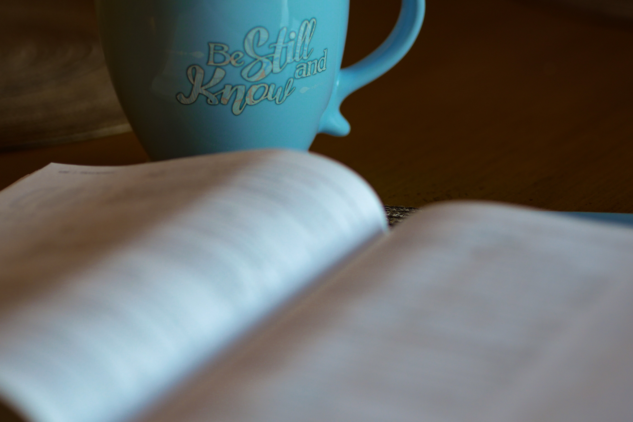 Photo of bible and coffee