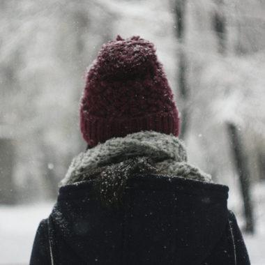 Boy looking at at the snow