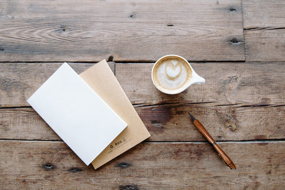 Pen, Journal and Coffee